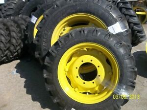JOHN-DEERE-5055E-TWO-14-9X28-Tractor-Tires-w-rims-amp-TWO-9-5x24-Tires-w-rims