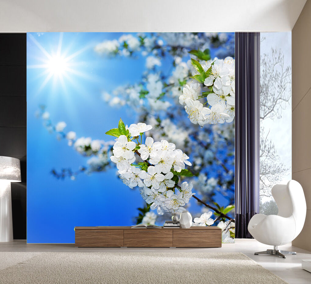 3D Fresh Tree Flowers 8895 Paper Wall Print Wall Decal Wall Deco Indoor Murals