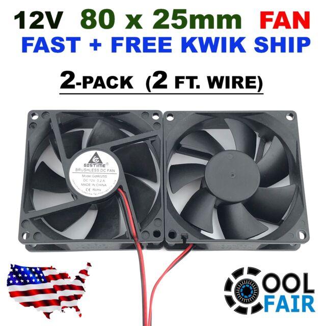 80mm 80x25mm DC 24V 2P Fan Cord Guard PC CPU Computer Case Cooling Fan