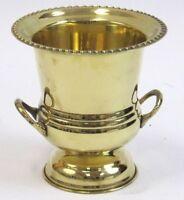 Solid Brass Decorative Cup Urn Vase Ice Bucket Wine Cooler 7 Home Bar Decor