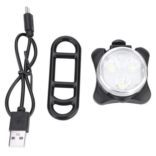 USB Bike Tail Light USB Charging Warning Light LED Round Rear Back Safety Lamp