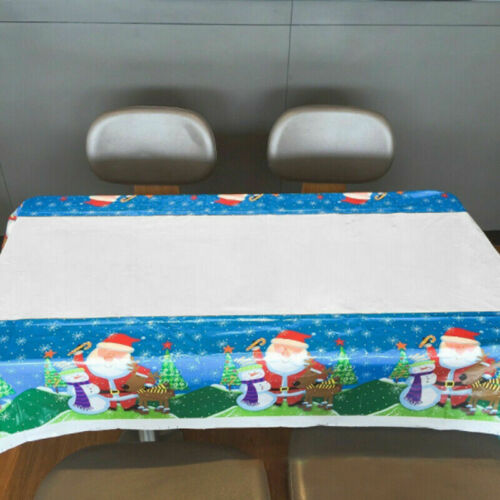 Soft Christmas Themed Table Cover Rectangle Cloth  Xmas Party Dinner Decoration