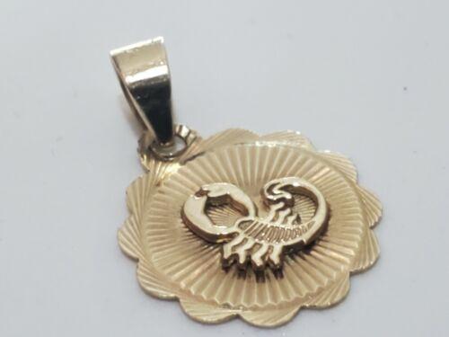 Solid 10k Gold Scorpion Pendant