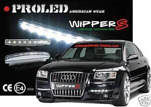 2 FEUX WIPPER S' DRL DIURNE DE JOUR A LED 5000K POUR NISSAN ALMERA X-TRAIL 4X4