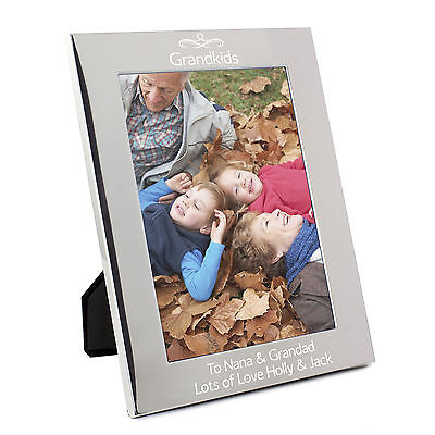 Personalised Silver Swirl 5x7 Photo Frame; Engraved Free: Birthdays, Fathers Day