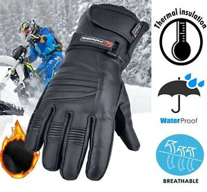 Reflective Leather Motorbike Gloves Thermal Waterproof Motorcycle Glove Ebay