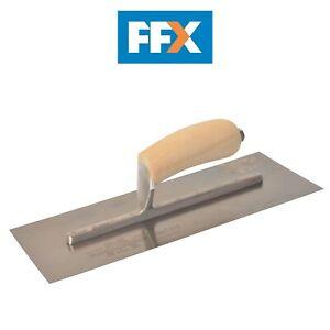 Rendering Plastering Finishing Stainless Steel Trowel 270 x 130mm Rubber handle