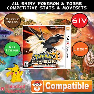 unlocked pokemon ultra sun all pokemon lowest legal level max item
