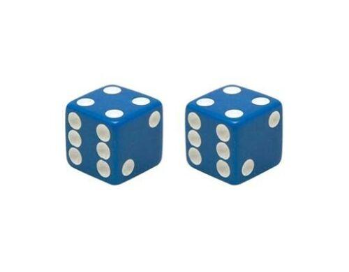 Blue Dice Valve Caps For Schrader Valves
