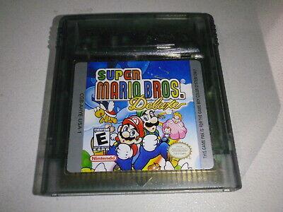 Super Mario Bros Deluxe Dx Nintendo Gameboy Color Gbc Cart Only