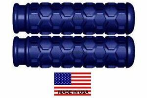 YAMAHA ATV WARRIOR WOLVERINE BLUE HEX HANDLEBAR HAND GRIPS - USA MADE QUAD 4X4