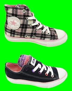 fb7197f4163 CONVERSE ALL STAR New Lo Hi Girls Trainers Shoes Ladies Pink Navy ...