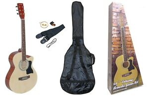 "Johnny Brook 40"" Cutaway Acoustic Guitar Kit - Natural (NEW - BOXED) 1401732"