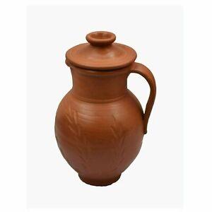 Indien traditional Handmade Terracotta Water Jug Classic Design