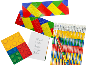 Pack-of-36-Brick-Block-Stationery-Pack-Pencils-Bookmarks-Notepads-Party-Fillers