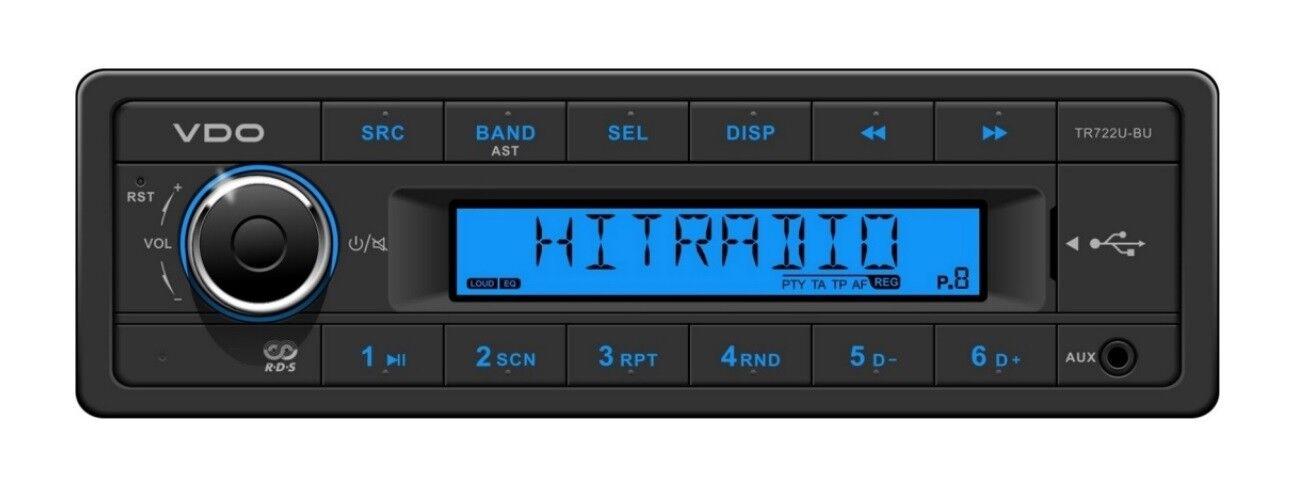 VDO RADIO USB MP3 WMA 24V Stiefel TR722U-BU