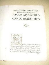 MEMORIE DE'CHERICI REGOLARI DI S. PAOLO - BARNABITI - BOLOGNA 1703