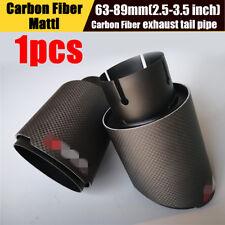 Mattle Black Carbon & Steel 2.5'' -3.5'' Exhaust Tips Muffler End Pipe Universal