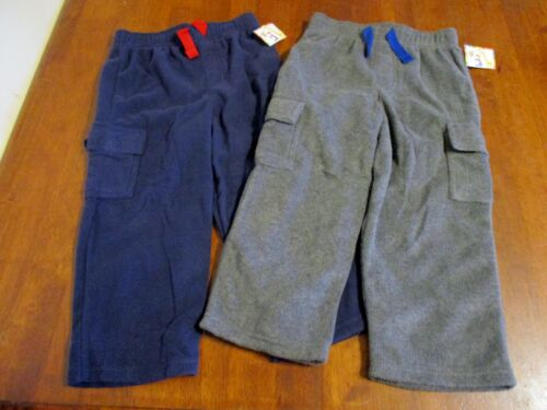 Lot Of 2 Pairs Boys GARANIMALS Micro Fleece PANTS Size 3T Blue /& Gray NWT
