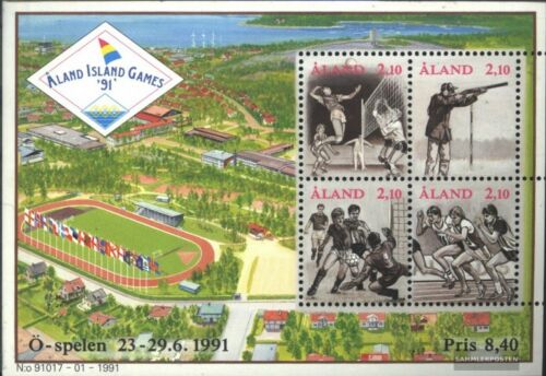 FinlandAland block1 complete issue used 1991 Sports Games