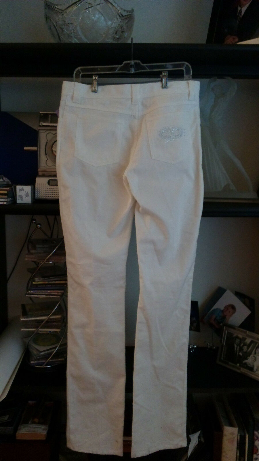 NEW Ladies authentic white VALENTINO jeans, s12, 47', Cotton Blend and Mid-Rise