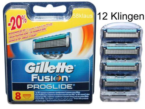 12 Gillette Fusion ProGlide Rasierklingen 4er Blister 8er OVP = 12er Gillete