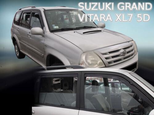 DSU28650 Suzuki Grand Vitara XL7 1998-2005 viento desviadores 4pc Heko Teñido