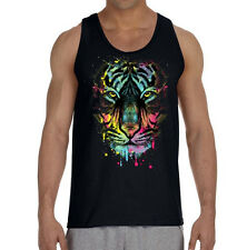 Dripping Tiger Long Sleeve Black T Shirt Workout Beast Gym Tee animal mma rave