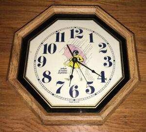 Vintage Retro Morton S Salt Kitchen Wall Clock Ebay