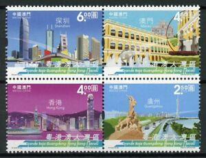 Macao-Macau-Architecture-Stamps-2019-MNH-Greater-Bay-Area-Skyscrapers-4v-Block
