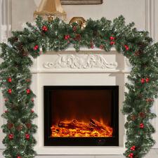 Christmas Garland Decoration Holiday New Decor Xmas Tinsel Artificial Fireplace