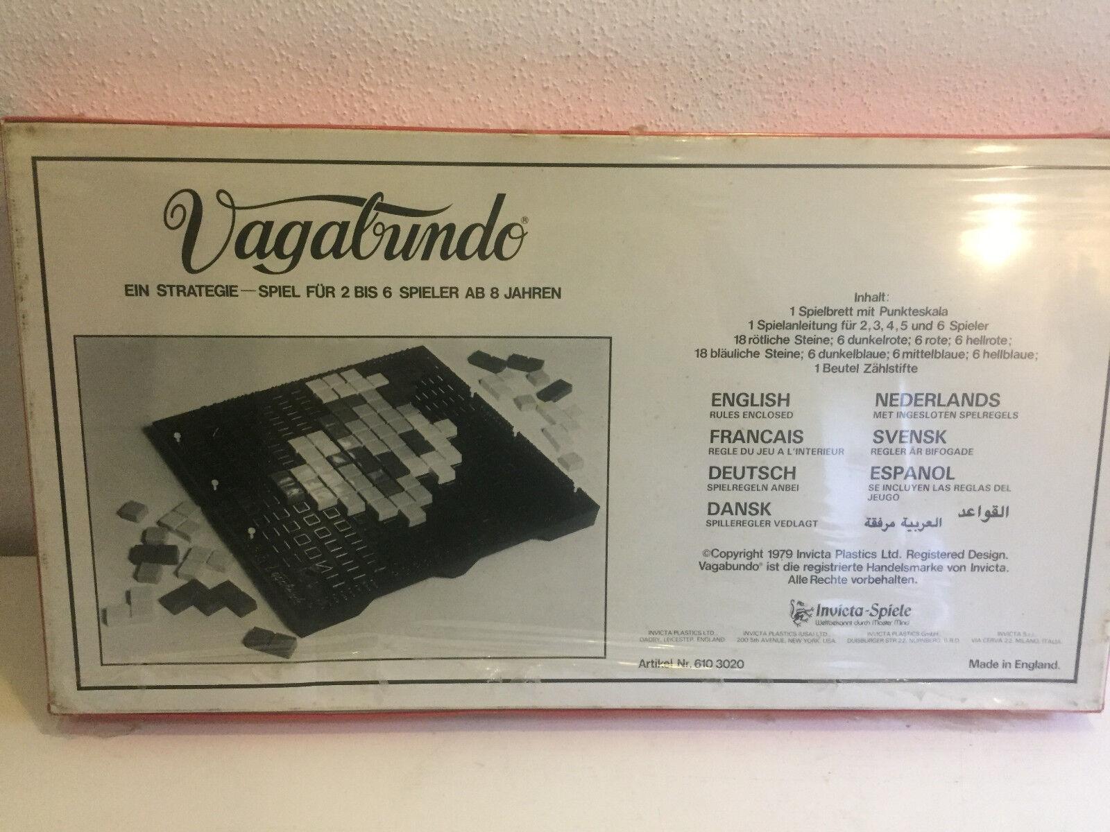 Vagabundo Jeu de stratégie de de de INVICTA RARE NEUF ET Neuf dans sa boîte! Tetris analogique PLANCHE a3c72a