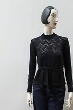 Pullover sweater Lady Schwarz Strick NOS ungetragen OvP 70er True Vintage KASAK