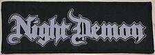 NIGHT DEMON - Logo - Patch - 6,5 cm x 19 cm - 163730