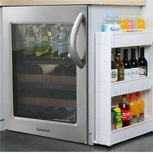 Slim-Slide-Out-Kitchen-Trolley-Rack-Holder-Storage-Shelf-Organiser-on-Wheels
