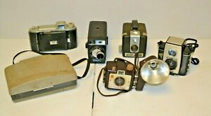 Lot-of-6-Vintage-Film-Cameras-UNTESTED-FOR-PARTS-Kodak-Polaroid-Brownie