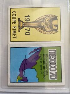 Panini Mexico 70 - Rimet Cup and Mexican Map - Excellent