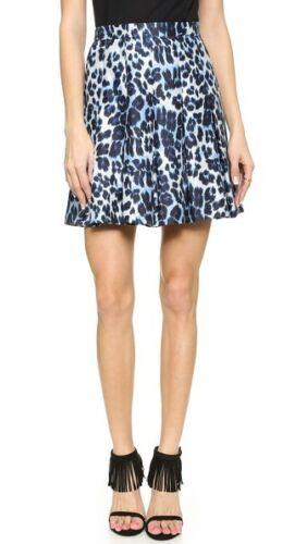NWT DVF Diane Von Furstenberg Gemma Pleated Skirt Leopard Cheetah $428