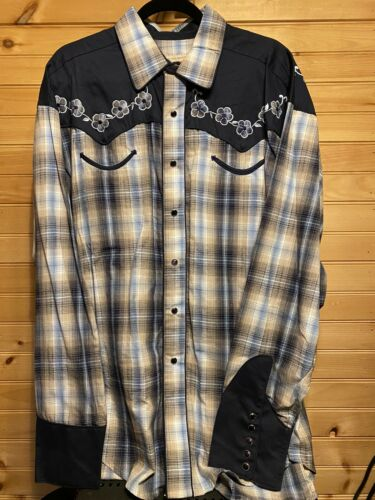 Rockmount Ranch Wear Western Shirt Cowboy Vintage