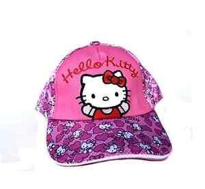 Hello Kitty Pink Sanrio Cap Girls Baseball Cap Heart Designs Hello ... f68febe7959a
