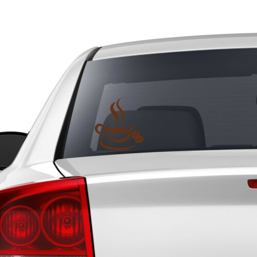 Coffee Cup Sticker Vinyl Decal Colored