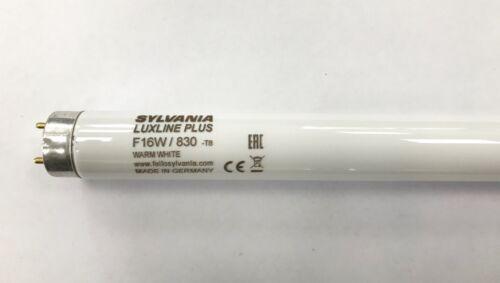 """Sylvania Luxline 16 W 29/"""" 720 mm 830 blanc chaud T8 Fluorescent Tube-Pack de 5"""