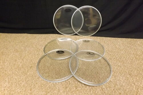 """Pearl Pro Tone 10/"""" Drum Heads//Set of 6//BRAND NEW"""