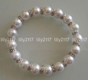 "Natural 6 //// 8//10//12//14mm Faceted Sri Lanka Moonstone perles Bracelet Bangle 7.5/"""