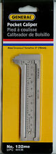 "3"" METRIC ENGLISH SAE STANDARD SLIDING SLIDE POCKET THICKNESS CALIPER RULER TOOL"