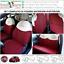 miniatura 1 - FODERE COPRISEDILI Su Misura! FIAT 500 Fodera FODERINE COMPLETE Rosso/Ecrù