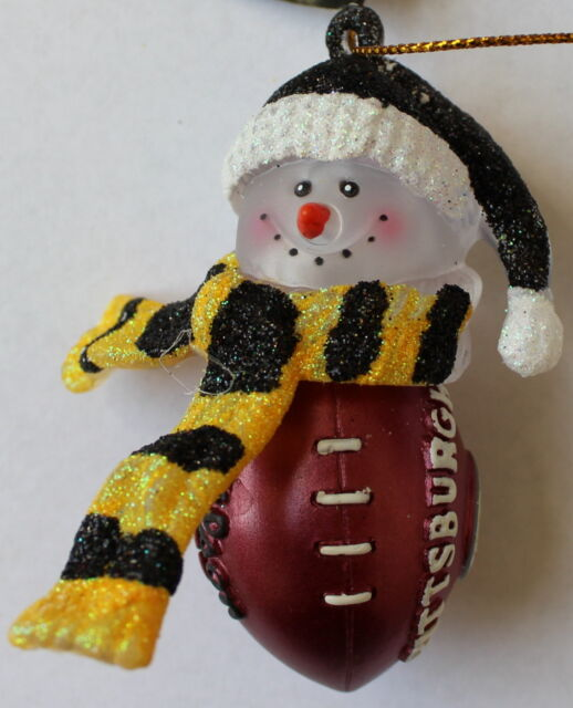 Pittsburgh Steelers NFL Licensed Christmas Ornament Football Acrylic Snowman 8a6781243