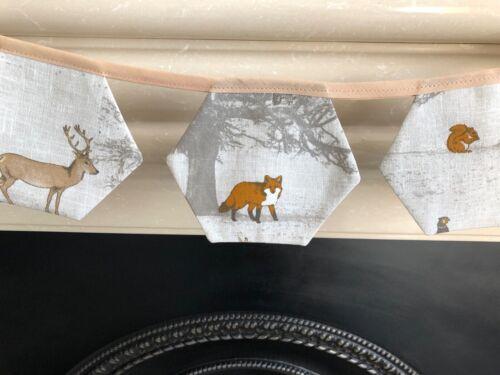 FRYETT/'S TATTON DEER STAG FOX BUNTING 10 6 SIDED FLAGS 12 CM X 15 CM.HOME MADE