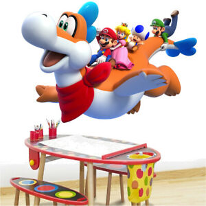 Super Mario Bros plessie mundo Grandes Vinilo de pared
