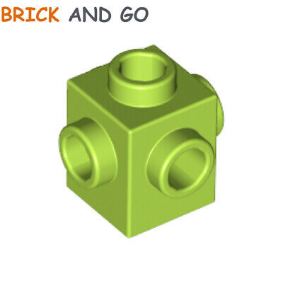 6 x LEGO 87087 Brique 1 Tenon noir black Brick 1x1 Stud On 1 Side NEUF NEW